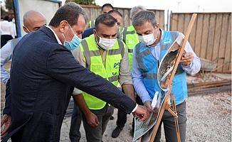 Başkan Seçer, MESKİ'nin Su Taşkınlarına Karşı Çalışmalarını İnceledi.