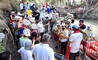 Tarsus Şelalesinde İlk Rafting Heyecanı