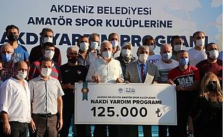 Akdeniz Belediyesinden Spor Kulüplerine Nakdi Destek