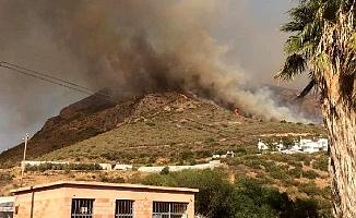 Bozyazı'da Yerleşim Yerleri Yakınında Orman Yangını