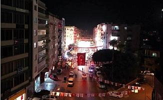 Mersin´de Meşaleli, Havai Fişekli Cumhuriyet Bayramı Kutlaması
