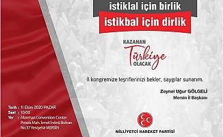 MHP Mersin İl Teşkilatı Kongreye Gidiyor