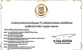 Tarsus'da Cumhuriyet Bayramı Coşkusu