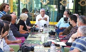 Bedrettin Gündeş, Anamur'da Gazetecilerle Buluştu