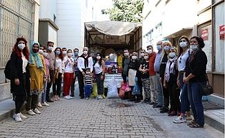 Mut'un Tarihi Taşhan'ından İzmir'e Destek