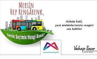 Mersin Büyükşehir 100 Yeni Doğalgazlı Otobüsün Rengi İçin Anket Başlattı.