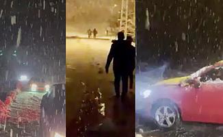 Otomobilleriyle Kara Saplanıp Mahsur Kalan 8 Kişi Kurtarıldı