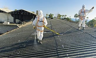 Yenişehir'de Asbestli Binada Söküm Çalışması Başladı
