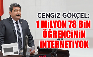 "CHP'li Gökçel; ""1 Milyon 78 Bin Öğrencinin İnterneti Yok"""