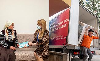 Yangın Mağduru Aileye Büyükşehir'den Yardım Eli
