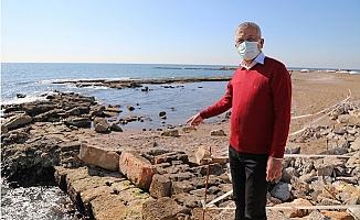 Soli Pompeiopolis'te Deniz Çekildi Antik Liman Ortaya Çıktı