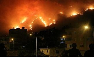 Aydıncık'ta Vatandaşlar Yangınlardan Korunmak İçin Sahile Kaçıyor