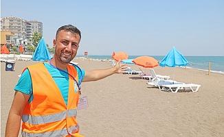 Mezitli Belediyesi Aile Plajı Yaptı