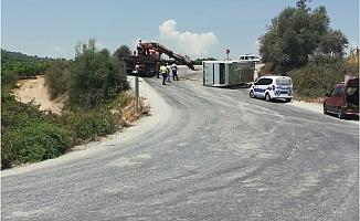 Tarsus'ta İşçilerin Servis Aracı Devrildi.