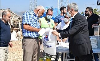 Yenişehir Belediyesi, Mobil Kesim Alanında Poşet Dağıttı