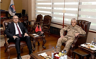 Jandarma Genel Komutanı Orgeneral Çetin'den Vali Su'ya Ziyaret