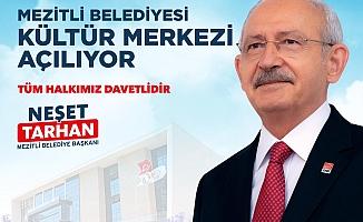 Kılıçdaroğlu Mezitli'deki Kültür Merkezini Hizmete Açıyor