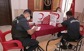 Mersin'de Jandarma'dan Kan Bağışı Kampanyasına Destek