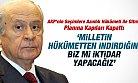 Bahçeli AKP'nin Azınlık Hükümeti Planına Kapılarını Kapattı
