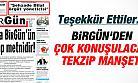 Birgün'den Erdoğan İle Çok Konuşulacak Tekzip Metni