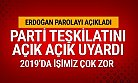 Cumhurbaşkanı Erdoğan Partililerini Uyardı 2019 İşimiz Zor !