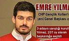 Emre Yılmaz CHP Gençlik Kolları Genel Başkanı Oldu