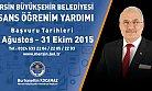 Mersin Büyükşehir Belediyesinden Öğrencilere Yardım Bursu