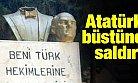Mersin'de Atatürk Büstüne Saldıran Kişiye Linç Girişimi