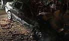 Mersin'de Garajdaki Otomobil Yandı
