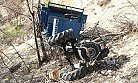 Mut'ta Tarım Aracı Devrildi 2 Kişi Yaralandı.