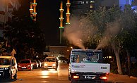 Mersin'de Sinekle Mücadele Çalışması Gece de Sürüyor