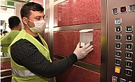 Toroslar Belediyesi Asansörlere Dezenfektan Ünitesi Yerleştirdi