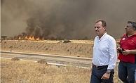 Başkan Seçer Mersindeki Yangın Bölgelerinde İncelemelerde Bulundu.