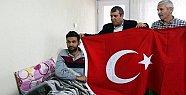 Fırat Kalkanı Harekatında Yaralanan Asker Mut'taki Evinde Dinleniyor