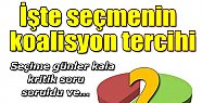İŞTE HALKIN İSTEDİĞİ KOALİSYON !