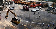 Mersin Limanında Araç Yangını Korku