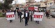 Mersin'de at Sırtında Davullu Zurnalı Referandum Çalışması