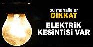 Mersin'de Cuma Günü Elektrik Kesintisi