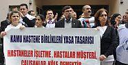 Mersin'de Sağlıkçılar Eylem Yaptı.