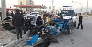 Mersin'de Tarım Aracı Otomobile Çarptı: