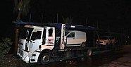 Mersin'de Tıra Molotofkokteylli Saldırısı