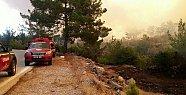 Mersin'in Gülnar İlçesinde Çıkan Yangın