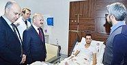 Vali Çakacak, El Bab gazisi Uzman Çavuş Hüseyin İlban'ı Ziyaret Etti