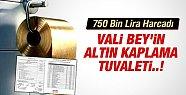 Vali'ye 750 Bin Liraya ALTIN Kaplamalı