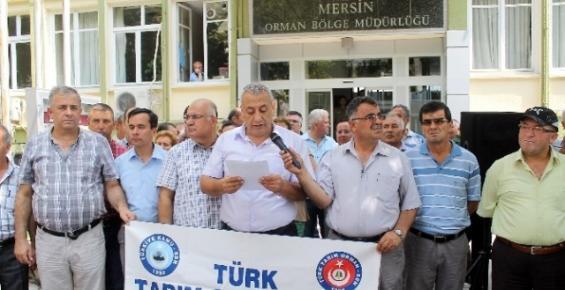 Türk Tarım Orman Sen Üyeleri Tayinleri ve Atamaları Protesto Etti