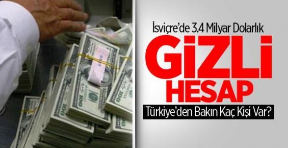 Türkiye'den 3.4 Milyar Dolarlık Gizli Hesap