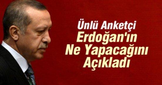 Ünlü Anketçi Erdoğan'ın Ne Yapacağını Açıkladı