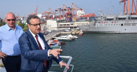 Vali Su, Mersin Limanı'nda İncelemelerde Bulundu