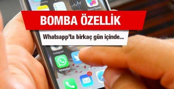 WhatsApp'a Bomba Özellik En Geç Birkaç Gün İçinde