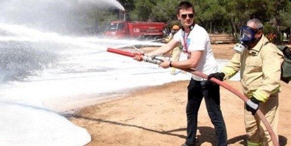 Yabancı Ormancılar Yangın Tatbikatı Yaptı